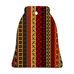 Tribal Grace Colorful Bell Ornament (Two Sides)