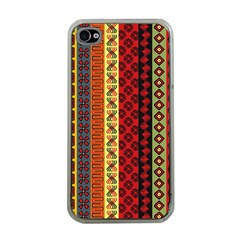 Tribal Grace Colorful Apple iPhone 4 Case (Clear)