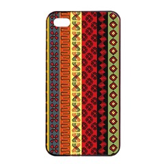 Tribal Grace Colorful Apple iPhone 4/4s Seamless Case (Black)