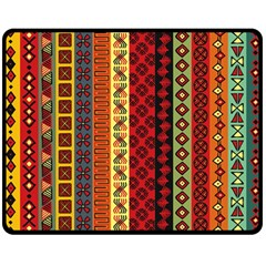 Tribal Grace Colorful Double Sided Fleece Blanket (Medium)