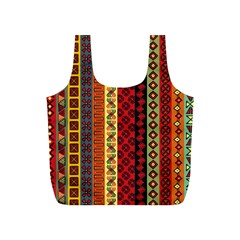 Tribal Grace Colorful Full Print Recycle Bags (S)