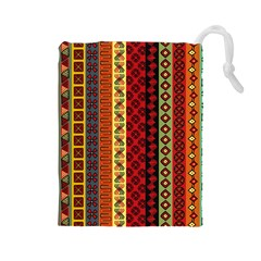 Tribal Grace Colorful Drawstring Pouches (Large)