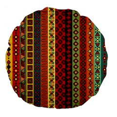 Tribal Grace Colorful Large 18  Premium Flano Round Cushions