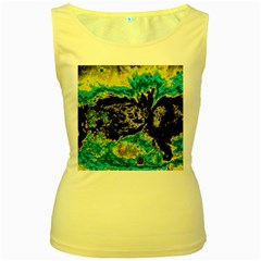 Abstraction Women s Yellow Tank Top
