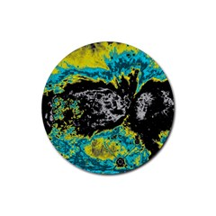 Abstraction Rubber Round Coaster (4 pack)