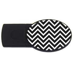 Zigzag pattern USB Flash Drive Oval (1 GB)