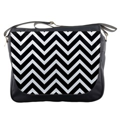 Zigzag pattern Messenger Bags