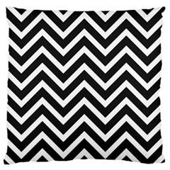 Zigzag pattern Large Flano Cushion Case (Two Sides)