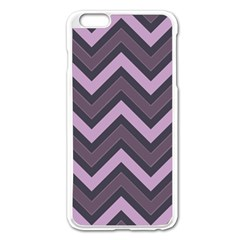Zigzag pattern Apple iPhone 6 Plus/6S Plus Enamel White Case