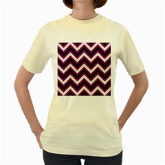 Zigzag pattern Women s Yellow T-Shirt