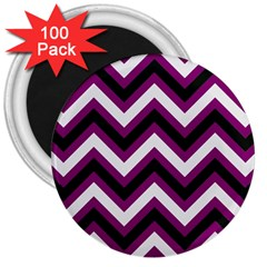 Zigzag pattern 3  Magnets (100 pack)