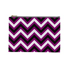 Zigzag pattern Cosmetic Bag (Large)