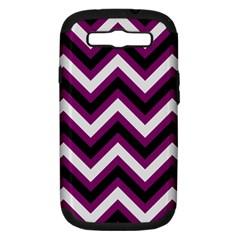 Zigzag pattern Samsung Galaxy S III Hardshell Case (PC+Silicone)