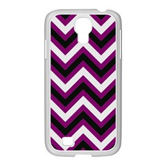 Zigzag pattern Samsung GALAXY S4 I9500/ I9505 Case (White)