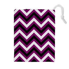 Zigzag pattern Drawstring Pouches (Extra Large)