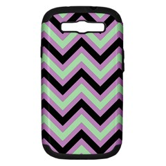 Zigzag pattern Samsung Galaxy S III Hardshell Case (PC+Silicone)