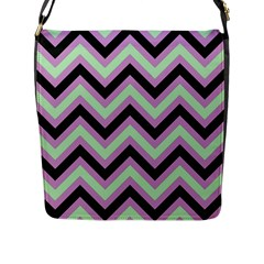 Zigzag pattern Flap Messenger Bag (L)
