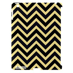 Zigzag pattern Apple iPad 3/4 Hardshell Case (Compatible with Smart Cover)