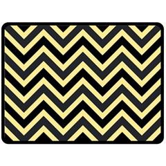 Zigzag pattern Double Sided Fleece Blanket (Large)