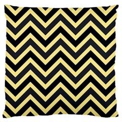 Zigzag pattern Large Flano Cushion Case (Two Sides)