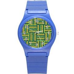Pattern Round Plastic Sport Watch (S)
