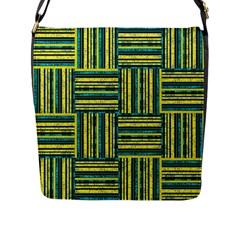 Pattern Flap Messenger Bag (L)