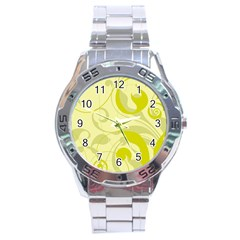 Floral pattern Stainless Steel Analogue Watch