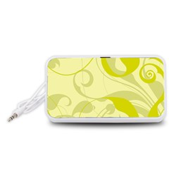 Floral pattern Portable Speaker (White)