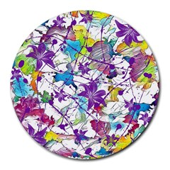 Lilac Lillys Round Mousepads