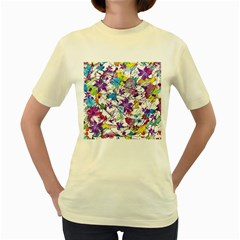 Lilac Lillys Women s Yellow T Shirt
