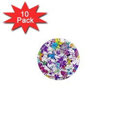 Lilac Lillys 1  Mini Magnet (10 pack)