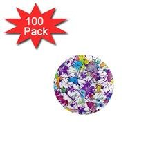 Lilac Lillys 1  Mini Magnets (100 pack)
