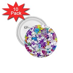 Lilac Lillys 1.75  Buttons (10 pack)