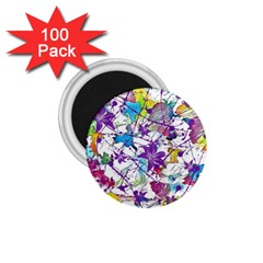 Lilac Lillys 1.75  Magnets (100 pack)