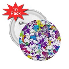 Lilac Lillys 2 25  Buttons (10 Pack)