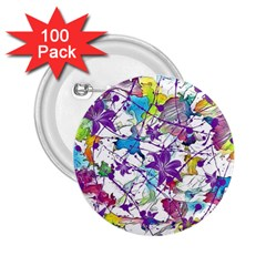 Lilac Lillys 2 25  Buttons (100 Pack)