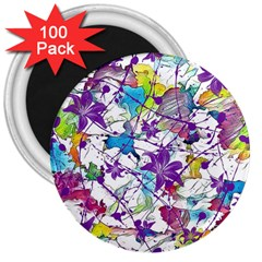Lilac Lillys 3  Magnets (100 Pack)