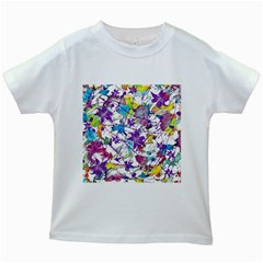 Lilac Lillys Kids White T-Shirts
