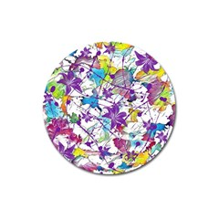 Lilac Lillys Magnet 3  (round)