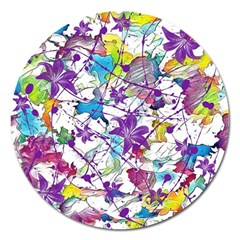 Lilac Lillys Magnet 5  (Round)