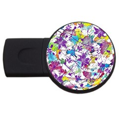 Lilac Lillys USB Flash Drive Round (1 GB)