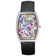 Lilac Lillys Barrel Style Metal Watch
