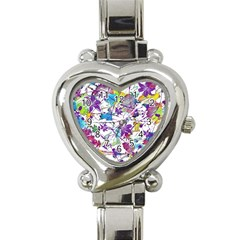 Lilac Lillys Heart Italian Charm Watch