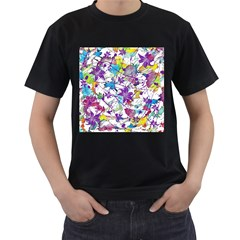 Lilac Lillys Men s T Shirt (black) (two Sided)