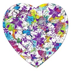 Lilac Lillys Jigsaw Puzzle (heart)