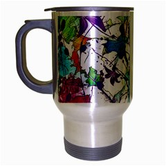 Lilac Lillys Travel Mug (silver Gray)