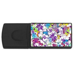 Lilac Lillys USB Flash Drive Rectangular (4 GB)