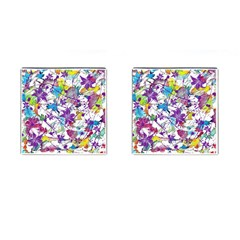 Lilac Lillys Cufflinks (Square)