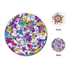 Lilac Lillys Playing Cards (Round)