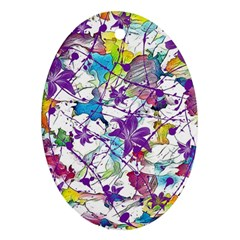 Lilac Lillys Oval Ornament (Two Sides)
